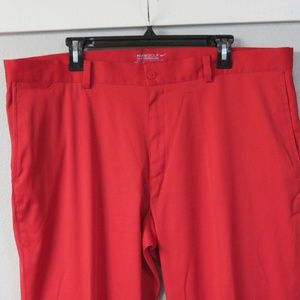 Nike Golf Red Slacks Golf Flat Front Size 40x32